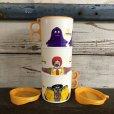 画像2: 80s Vintage McDonalds Hamburglar Plastic Mug Cup (J964)  (2)