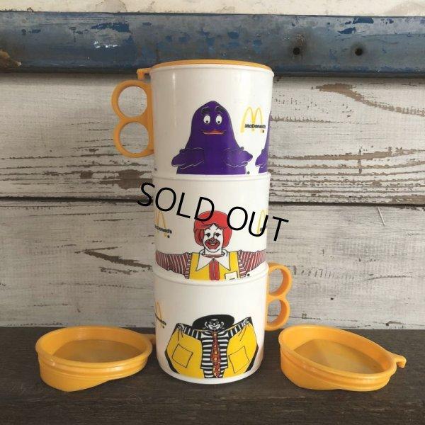 画像2: 80s Vintage McDonalds Hamburglar Plastic Mug Cup (J964)