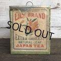 Vintage Lily Brand Japan Tea Store Display Can (J958)