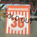 Whataburger Stores Ordering Table Tent #36 (J966)