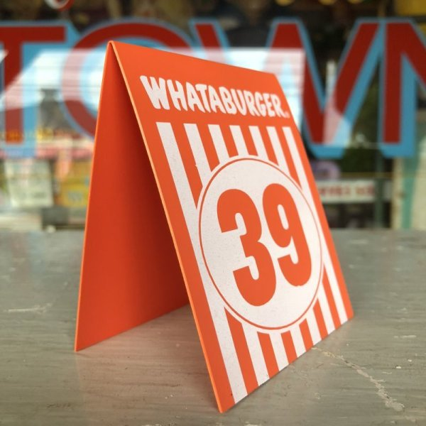 画像2: Whataburger Stores Ordering Table Tent #39 (J965)
