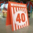 画像3: Whataburger Stores Ordering Table Tent #40 (J964)  (3)