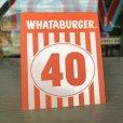 画像1: Whataburger Stores Ordering Table Tent #40 (J964)  (1)