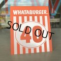 Whataburger Stores Ordering Table Tent #40 (J964)