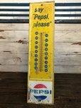 画像1: Vintage Pepsi Thermometer Sign SAY PEPSI PLEASE (J969) (1)