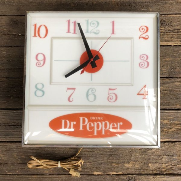画像2: Vintage Dr Pepper Lighted Sign Pam Clock (J971)