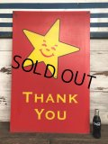 Vintage Original Carl's Jr Drive-thru Sign THANK YOU (J982)