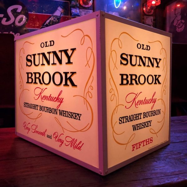 画像1: Vintage Old Sunny Brook Whiskey Lighted BAR Sign (S016)