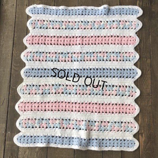 画像4: Vintage U.S.A Baby Knit Blanket Rug 70x80 cm (S080)