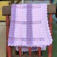 画像2: Vintage U.S.A Baby Knit Blanket Rug 100x85 cm (S079)  (2)