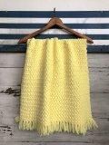 Vintage U.S.A Baby Knit Blanket Rug 110x56 cm (S077)