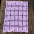 画像3: Vintage U.S.A Baby Knit Blanket Rug 100x85 cm (S079)  (3)