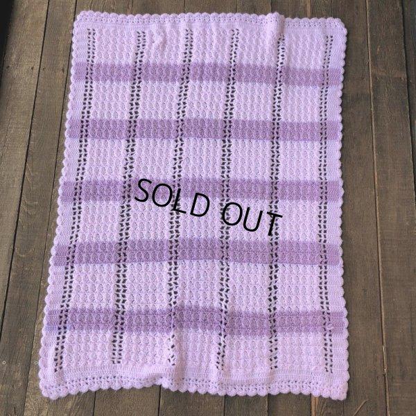 画像3: Vintage U.S.A Baby Knit Blanket Rug 100x85 cm (S079)