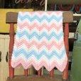 画像2: Vintage U.S.A Baby Knit Blanket Rug 73x98 cm (S073)  (2)