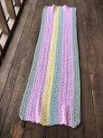 画像4: Vintage U.S.A Knit Blanket Rug 140x47 cm (S070)  (4)