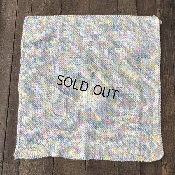 画像4: Vintage U.S.A Baby Knit Blanket Rug 70x70 cm (S076)