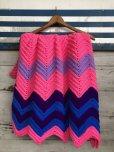 画像4: Vintage U.S.A Knit Blanket Rug 100x165 cm (S069)  (4)