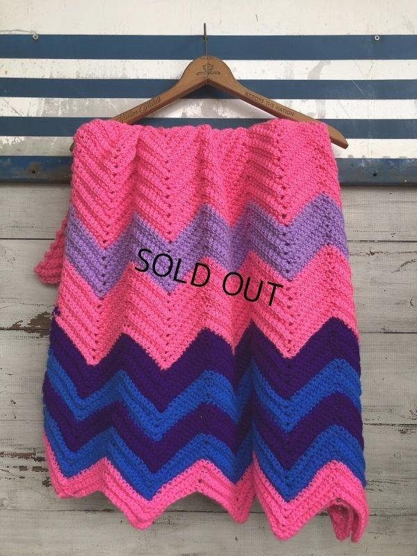 画像4: Vintage U.S.A Knit Blanket Rug 100x165 cm (S069)