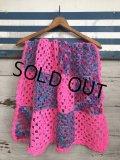 Vintage U.S.A Knit Blanket Rug 98x76 cm (S081)