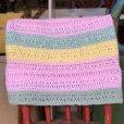 画像2: Vintage U.S.A Knit Blanket Rug 140x47 cm (S070)  (2)