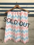 Vintage U.S.A Baby Knit Blanket Rug 73x98 cm (S073)