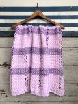 画像1: Vintage U.S.A Baby Knit Blanket Rug 100x85 cm (S079)  (1)
