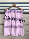 Vintage U.S.A Baby Knit Blanket Rug 100x85 cm (S079)