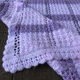 画像4: Vintage U.S.A Baby Knit Blanket Rug 100x85 cm (S079)  (4)