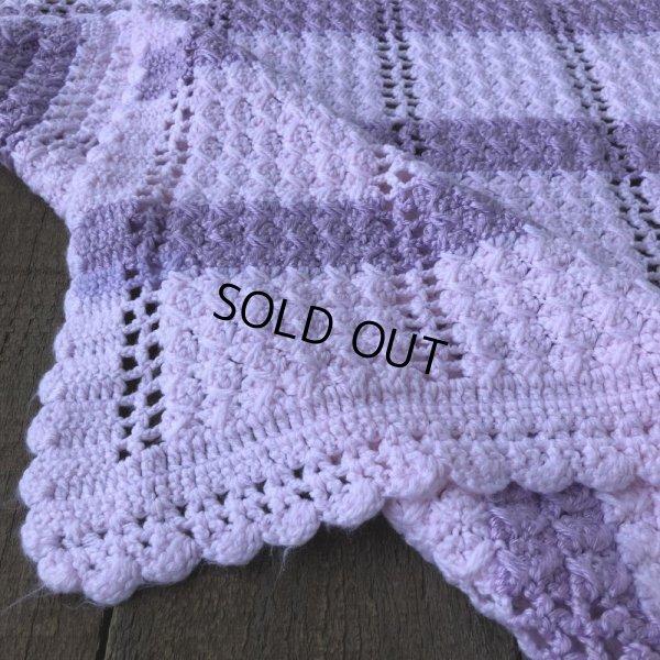 画像4: Vintage U.S.A Baby Knit Blanket Rug 100x85 cm (S079)