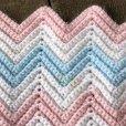 画像4: Vintage U.S.A Baby Knit Blanket Rug 73x98 cm (S073)  (4)