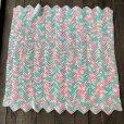 画像4: Vintage U.S.A Baby Knit Blanket Rug 100x90 cm (S075)  (4)