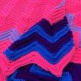画像2: Vintage U.S.A Knit Blanket Rug 100x165 cm (S069)  (2)