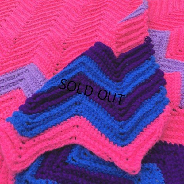 画像2: Vintage U.S.A Knit Blanket Rug 100x165 cm (S069)