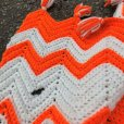 画像6: Vintage U.S.A Knit Blanket Rug 190x135 cm (S068)