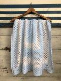 Vintage U.S.A Baby Knit Blanket Rug 100x90 cm (S071)
