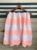 Vintage U.S.A Baby Knit Blanket Rug 72x62 cm (S072)