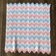 画像5: Vintage U.S.A Baby Knit Blanket Rug 73x98 cm (S073)  (5)