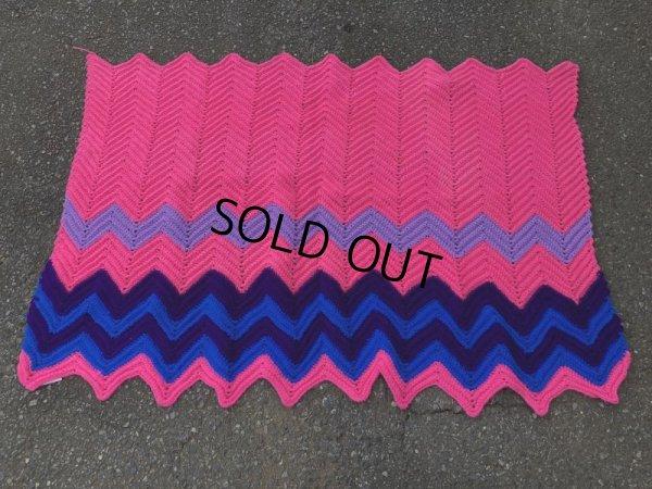 画像3: Vintage U.S.A Knit Blanket Rug 100x165 cm (S069)