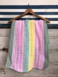 画像1: Vintage U.S.A Knit Blanket Rug 140x47 cm (S070)  (1)