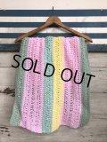 Vintage U.S.A Knit Blanket Rug 140x47 cm (S070)