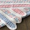 画像3: Vintage U.S.A Baby Knit Blanket Rug 70x80 cm (S080)  (3)