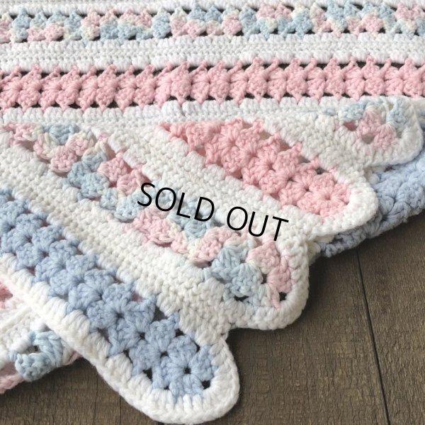 画像3: Vintage U.S.A Baby Knit Blanket Rug 70x80 cm (S080)