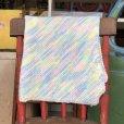 画像2: Vintage U.S.A Baby Knit Blanket Rug 70x70 cm (S076)  (2)