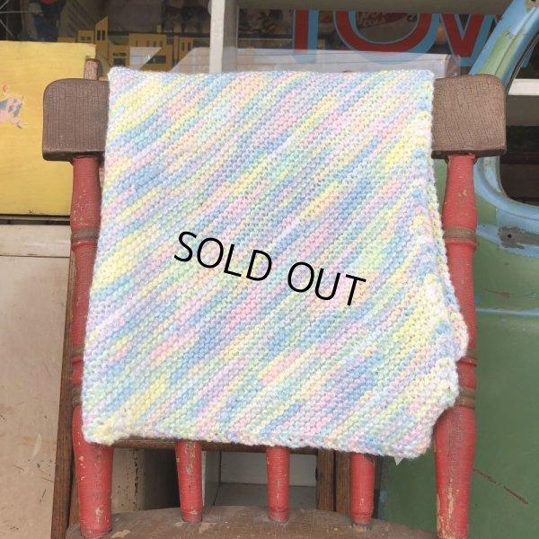 画像2: Vintage U.S.A Baby Knit Blanket Rug 70x70 cm (S076)