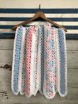 画像1: Vintage U.S.A Baby Knit Blanket Rug 70x80 cm (S080)  (1)