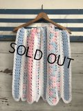 Vintage U.S.A Baby Knit Blanket Rug 70x80 cm (S080)