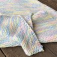 画像3: Vintage U.S.A Baby Knit Blanket Rug 70x70 cm (S076)  (3)