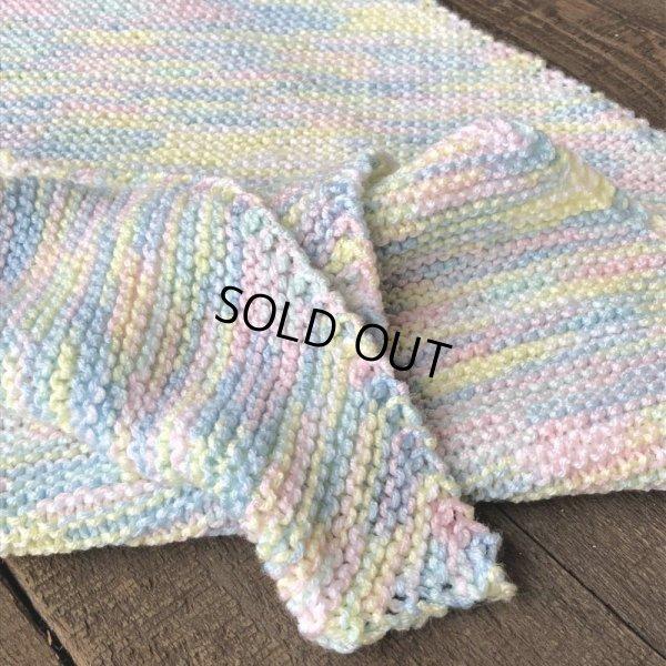画像3: Vintage U.S.A Baby Knit Blanket Rug 70x70 cm (S076)