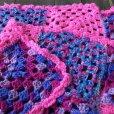画像2: Vintage U.S.A Knit Blanket Rug 98x76 cm (S081)  (2)