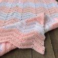 画像3: Vintage U.S.A Baby Knit Blanket Rug 72x62 cm (S072)  (3)
